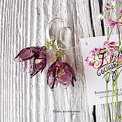 """Украшения ручной работы. Ярмарка Мастеров - ручная работа Серьги """"Весенние цветы 2"""". Handmade."""