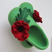 """Обувь ручной работы. Ярмарка Мастеров - ручная работа тапочки """" маковые грезы"""". Handmade."""