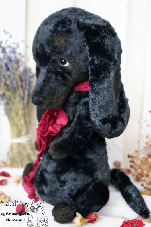 Мишки Тедди ручной работы. Ярмарка Мастеров - ручная работа. Купить Собачка тедди Жужа. Handmade. Черный, такса