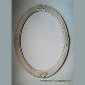 Для дома и интерьера ручной работы. Ярмарка Мастеров - ручная работа Резная овальная рама для зеркала. Handmade.