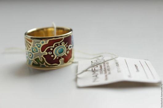 """Кольца ручной работы. Ярмарка Мастеров - ручная работа. Купить Кольцо """"Цветы"""". Handmade. Комбинированный, широкое кольцо, позолота 24К"""