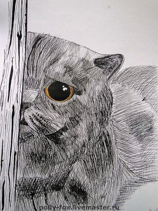 У каждого животного на каждом рисунке есть своё неповторимое выражение, свой неповторимый характер...