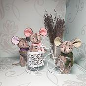 Мягкие игрушки ручной работы. Ярмарка Мастеров - ручная работа Игрушки: мышки символ 2020 года. Handmade.