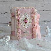 Блокноты ручной работы. Ярмарка Мастеров - ручная работа Блокнот ручной работы романтический. Handmade.