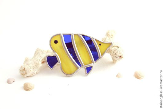 """Броши ручной работы. Ярмарка Мастеров - ручная работа. Купить Брошь """"Рыба-Бабочка"""". Handmade. Разноцветный, морской стиль"""