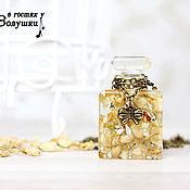 Украшения ручной работы. Ярмарка Мастеров - ручная работа Кулон Флакон духов с цветками Жасмина. Handmade.