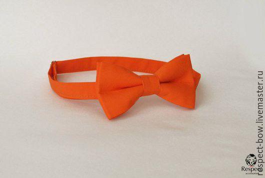 Галстуки, бабочки ручной работы. Ярмарка Мастеров - ручная работа. Купить Галстук бабочка оранжевая Классика / для свадьбы в оранжевом цвете. Handmade.
