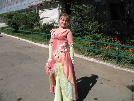 Платья ручной работы. Ярмарка Мастеров - ручная работа. Купить Платье для выпускного. Handmade. Розовый, бисер, объемная вышивка, органза