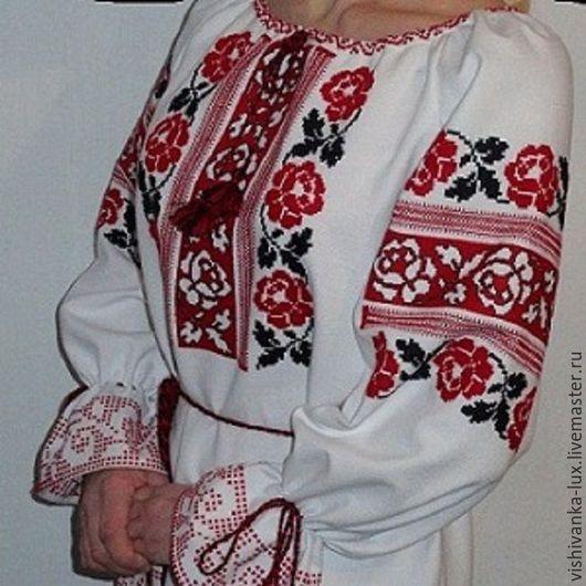 Блузки ручной работы. Ярмарка Мастеров - ручная работа. Купить блузка вышита вручную. Handmade. Белый, Вишиванка, Вышиванка