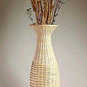 Для дома и интерьера ручной работы. Ярмарка Мастеров - ручная работа Ваза, плетеная из ивовой ленты (1). Handmade.