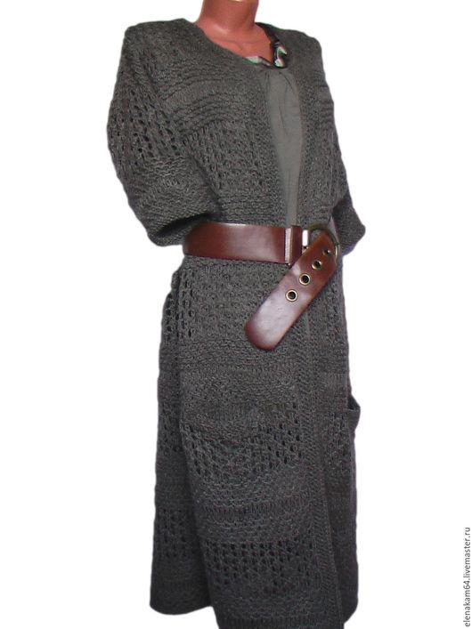 Верхняя одежда ручной работы. Ярмарка Мастеров - ручная работа. Купить вязаный  кардиган. Handmade. Вязаное пальто, ажурное пальто