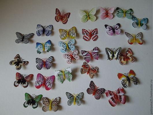 Аппликации, вставки, отделка ручной работы. Ярмарка Мастеров - ручная работа. Купить Бабочки декоративные 30 видов(тонкий пластик). Handmade.