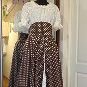 Одежда ручной работы. Ярмарка Мастеров - ручная работа Верхняя юбка на завязках из хлопкольна. Handmade.