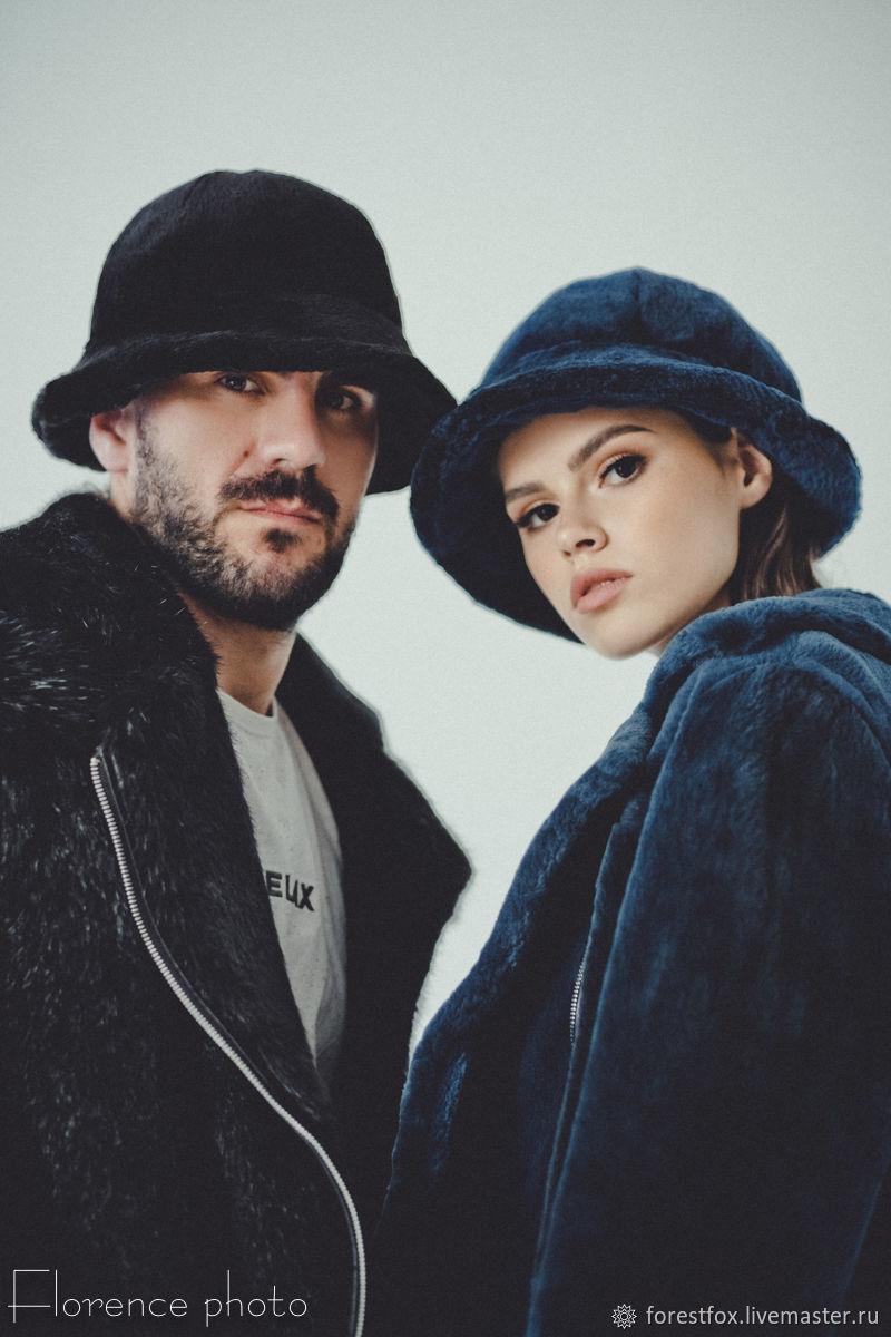 Fur Bucket Hat - Black Fur Panama Hats, Caps, Moscow,  Фото №1