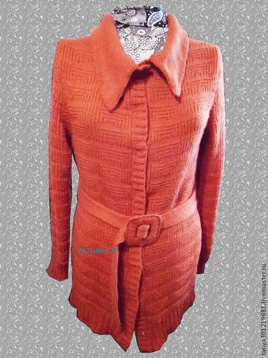 """Кофты и свитера ручной работы. Ярмарка Мастеров - ручная работа. Купить Кардиган """" Осень"""". Handmade. Рыжий, Машинное вязание"""