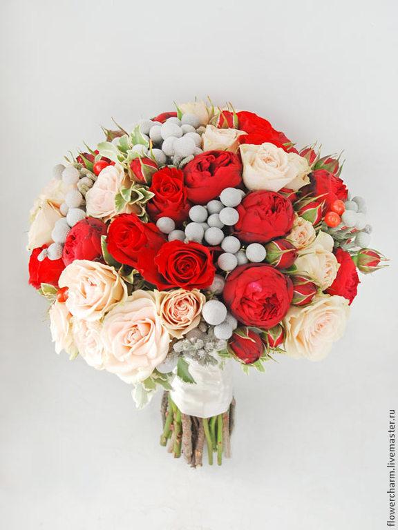 Фото букет невесты красный