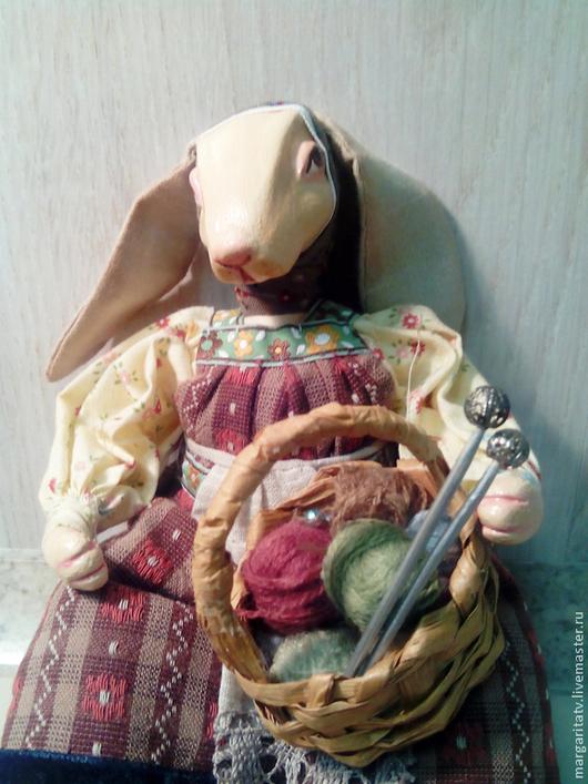 Коллекционные куклы ручной работы. Ярмарка Мастеров - ручная работа. Купить Крольчиха Дуся. Handmade. Бежевый, рукодельнице, глина полимерная