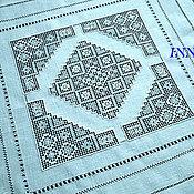 Для дома и интерьера handmade. Livemaster - original item Tablecloth. Strojeva hand embroidery. Merezhka. Diamond.. Handmade.