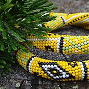 """Украшения ручной работы. Ярмарка Мастеров - ручная работа Колье """"Yellow patchwork"""". Handmade."""