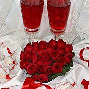Подарки к праздникам ручной работы. Ярмарка Мастеров - ручная работа Сердце из роз. Handmade.