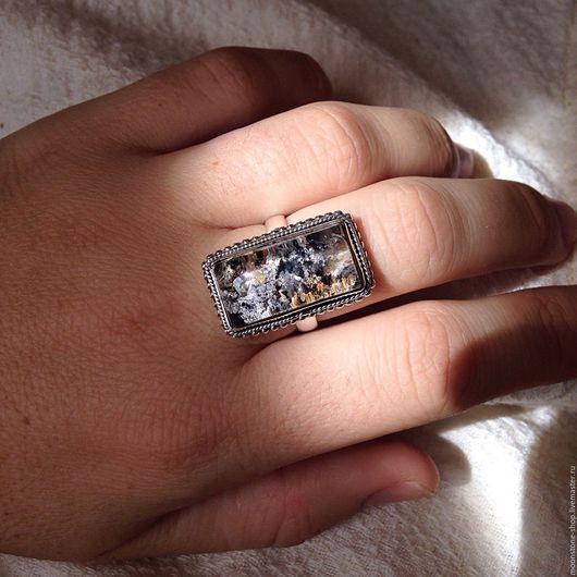 """Кольца ручной работы. Ярмарка Мастеров - ручная работа. Купить Кольцо """"Подводный мир"""". Handmade. Рутиловый кварц, кольцо"""