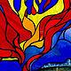 Элементы интерьера ручной работы. Заказать Из сказок. Витраж. Стекло, металл, обжиговая многослойная роспись. Вера Юрьева.Арт - Стекло, украшения. Ярмарка Мастеров.