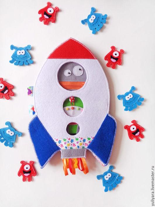 """Развивающие игрушки ручной работы. Ярмарка Мастеров - ручная работа. Купить Развивающая игрушка - """"Космическая Ракета"""". Handmade. Комбинированный, развивашка"""