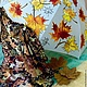 Шарфы и шарфики ручной работы. Заказать платок кленовые листья. ArtFlat. Ярмарка Мастеров. Платок батик, подарок девушке
