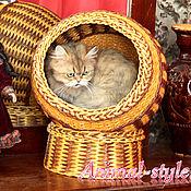 """Для домашних животных, ручной работы. Ярмарка Мастеров - ручная работа """"Шар волшебства"""" плетеный дом для кошек. Handmade."""
