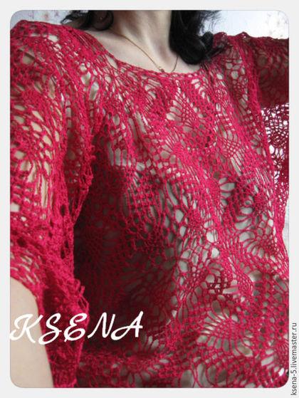 """Блузки ручной работы. Ярмарка Мастеров - ручная работа. Купить Ажурная блуза в стиле бохо """"Летний денёк"""". Handmade."""