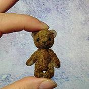 Куклы и игрушки ручной работы. Ярмарка Мастеров - ручная работа Мишка Тимми 4,3 см (заказ). Handmade.