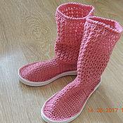 Обувь детская ручной работы. Ярмарка Мастеров - ручная работа Сапожки для девочки. Handmade.