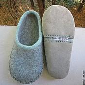 Slippers handmade. Livemaster - original item Slippers felted (felt) Jagal. Handmade.