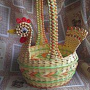 Для дома и интерьера ручной работы. Ярмарка Мастеров - ручная работа Корзина плетеная Светлая Пасха. Handmade.