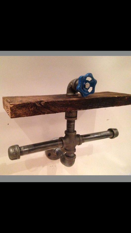 Мебель ручной работы. Ярмарка Мастеров - ручная работа. Купить Держатель на 2 рулона  из водопроводной трубы.. Handmade. Лофт