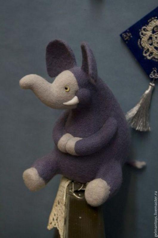 Игрушки животные, ручной работы. Ярмарка Мастеров - ручная работа. Купить Слон. Handmade. Комбинированный, слон, зимний слон