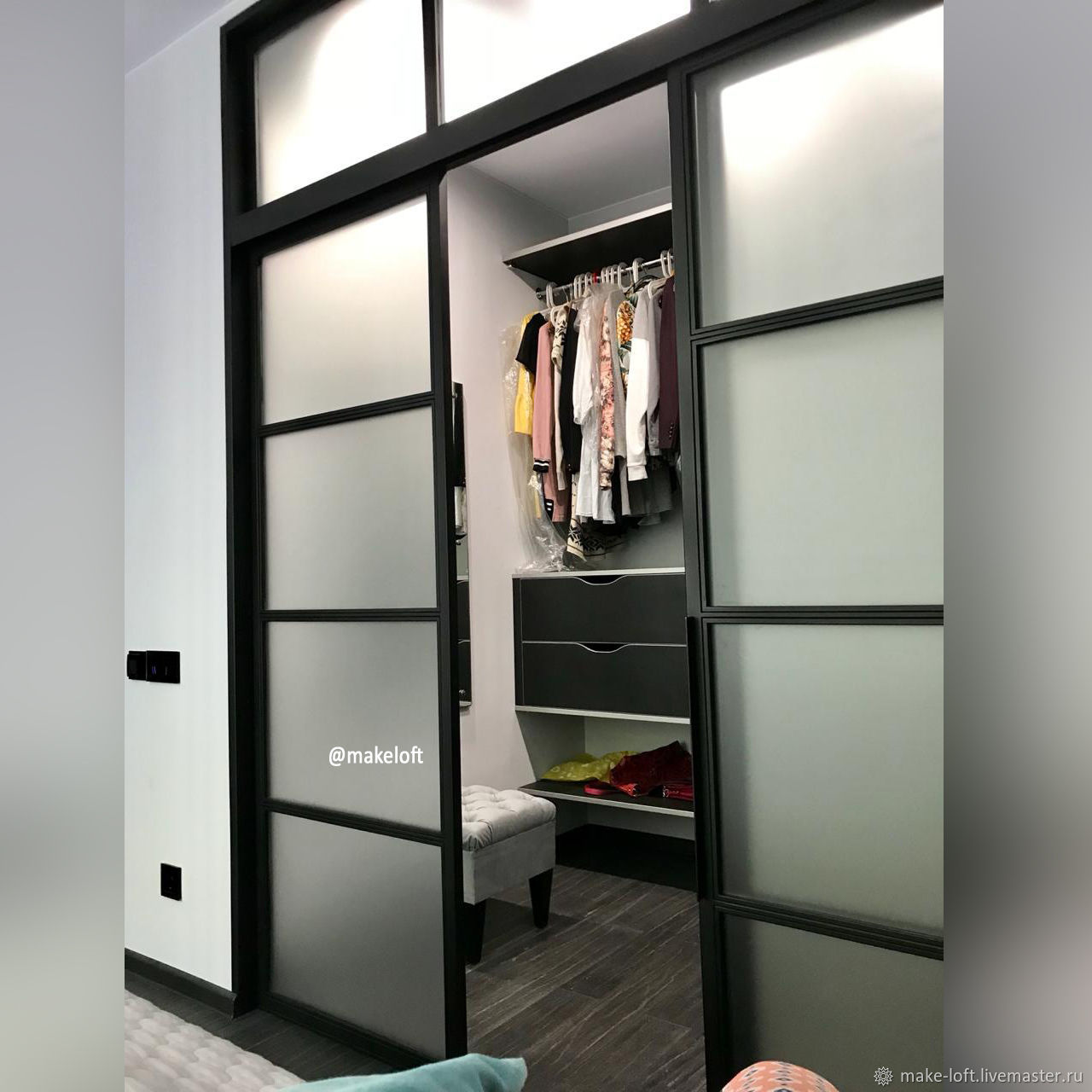 Перегородка для гардеробной, Двери, Москва,  Фото №1