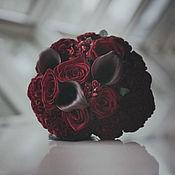 """Свадебный салон ручной работы. Ярмарка Мастеров - ручная работа Букет невесты в тёмно-бордовом цвете """"Бургундия"""". Handmade."""