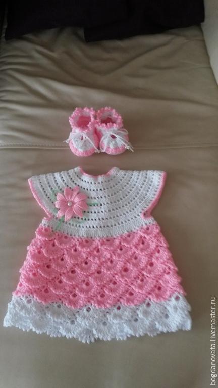 Одежда для девочек, ручной работы. Ярмарка Мастеров - ручная работа. Купить Цветочный сад. Handmade. Платье вязаное, кружево, крючком