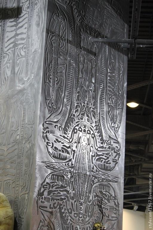Элементы интерьера ручной работы. Ярмарка Мастеров - ручная работа. Купить покрытие металлом барельефа. Handmade. Серебряный, барельеф