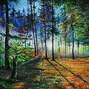 Картины ручной работы. Ярмарка Мастеров - ручная работа Осенний лес. Handmade.
