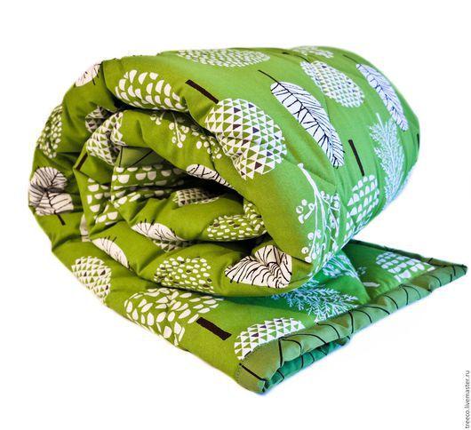 Текстиль, ковры ручной работы. Ярмарка Мастеров - ручная работа. Купить Стеганое одеяло ярко-зеленое. Handmade. Зеленый