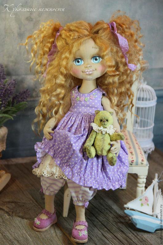 Коллекционные куклы ручной работы. Ярмарка Мастеров - ручная работа. Купить Виолетка .Кукла авторская .Кукла текстильная .. Handmade. Бежевый
