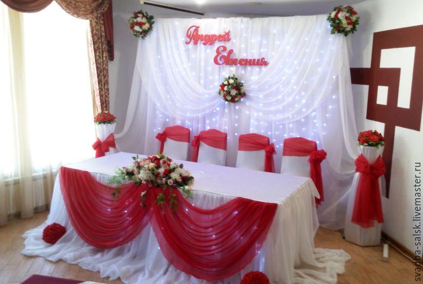 Оформление зала в красном цвете на свадьбу фото