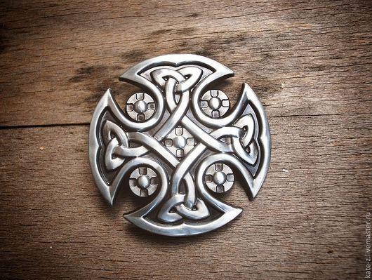 Пояса, ремни ручной работы. Ярмарка Мастеров - ручная работа. Купить Пряжка с кельтским мотивом. Handmade. Пряжка, кельтский крест
