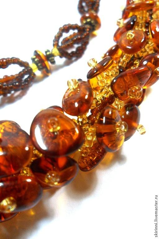 Necklace 'Buckwheat honey', Necklace, Astrakhan,  Фото №1