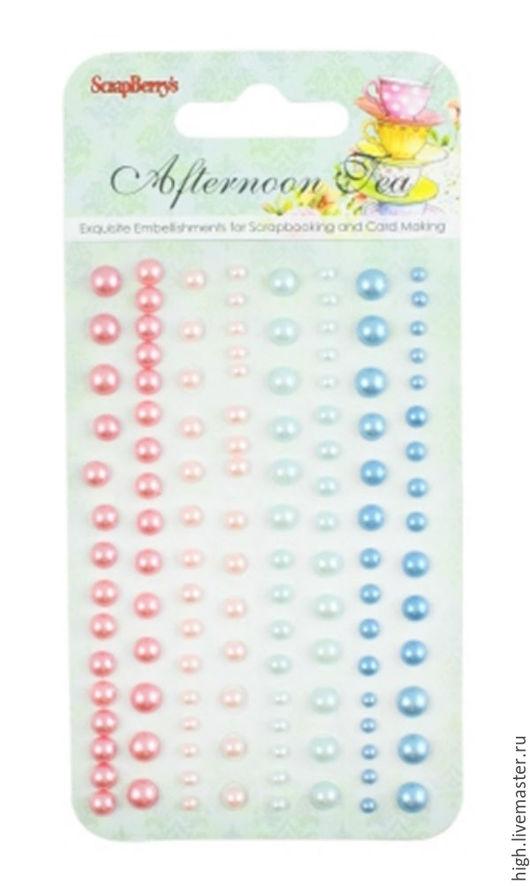 Клеевые полужемчужинки, 120 шт, 4 цвета Сладости 1 Арт. SCB25002002 – 108 руб.
