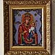 Иконы ручной работы. Ярмарка Мастеров - ручная работа. Купить Иверская икона Пресвятой Богородицы вышитая бисером. Handmade. Икона