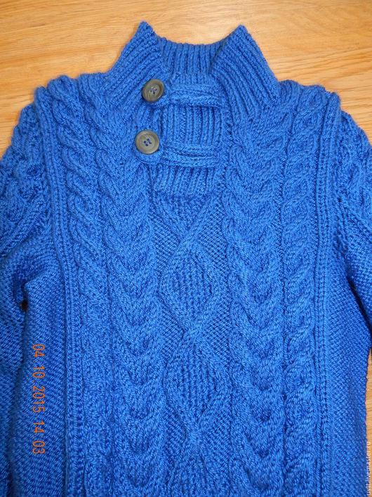 Одежда для мальчиков, ручной работы. Ярмарка Мастеров - ручная работа. Купить Свитер для мальчика. Handmade. Тёмно-синий, стильный свитер