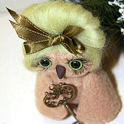 Куклы и игрушки handmade. Livemaster - original item The owl with the key to the new socket. Handmade.